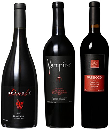 Vampire Vineyards Cabernet Sauvignon Pinot Noir Mixed Pack, 3 X 750 Ml