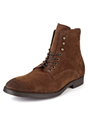 Autograph Suede Lace Up Boots