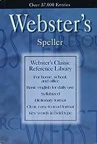 Webster's Speller Webster's…