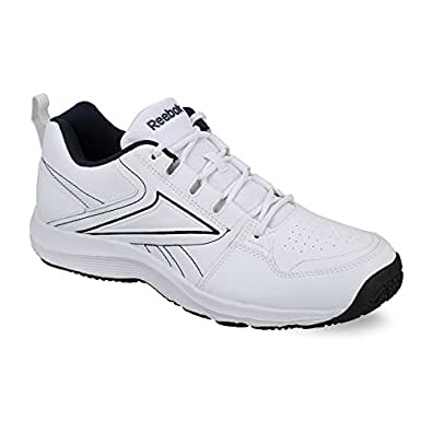 reebok s all day walk lp white and black running shoes