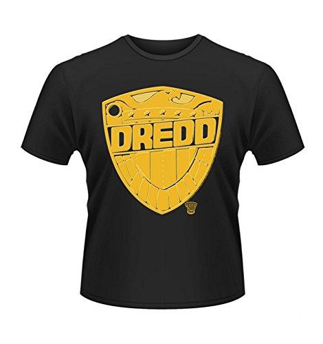 """Judge Dredd Badge T-shirt - Official - Black X-Large (46/48"""")"""