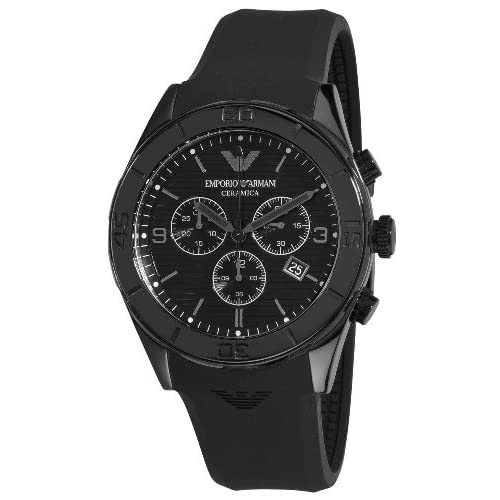 Emporio Armani Men's Quartz Watch AR1434 AR1434 with Rubber Strap