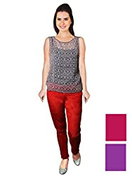 FNocks Women Slim Fit Jeans 28(Red purple Pink)