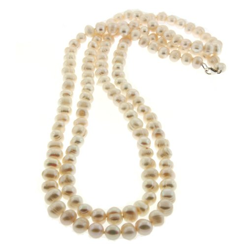 Extra Long Knotted Fresh Water Pearl Necklace