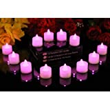 Bougies LED chauffe-plat PK x 12 - Rose