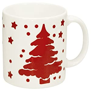 Waechtersbach Tannenbaum Trees Christmas Mugs, Set of 4, White