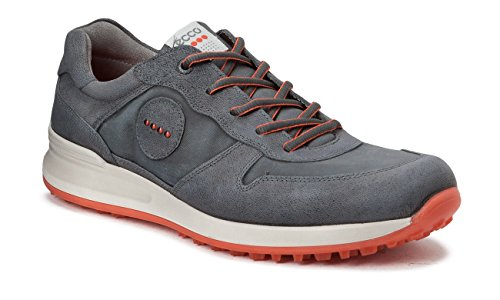 ECCO Mens Golf Speed Hybrid Dark Shadow Golf Shoes