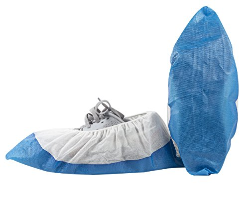 NoDirt Premium Disposable Shoe Covers - Waterproof Bottom - Durable, Thick Material - One Size Fits All Up to XL - For Medical, Construction, Workplace, & More (50 Count) (Protective Shoe Covers compare prices)