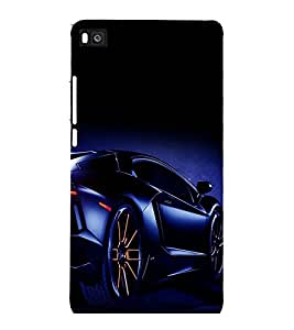 printtech Superfast car Back Case Cover for Huawei Honor P8