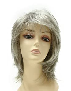 Tressecret Number 525 Wig, Light Brown Silver Gray 56R, 3 1/4 to 16 1/2 Inch