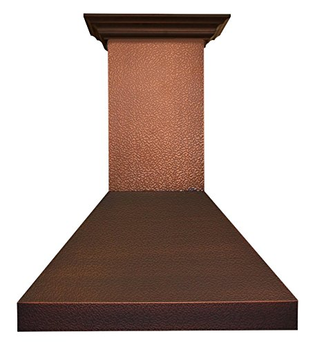 Z Line 8667E-36 1200 CFM Wall Mount Range Hood with Embossed Copper Finish, 36