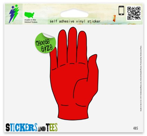 Red Hand Of Ulster Car Sticker Indoor Outdoor 6 x 3