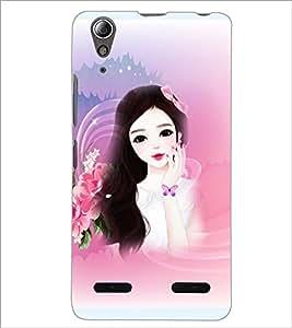 PrintDhaba Cute Girl D-4175 Back Case Cover for LENOVO A6000 (Multi-Coloured)