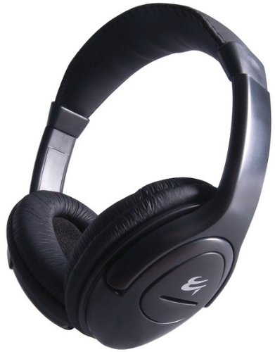 Computer Gear Headset with Clip on Microphone, Volume Control, Adjustable Head Band and Leather Ear Pads