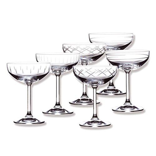 SAGA Coffret de 6 coupes à champagne