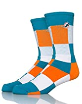 For Bare Feet Miami Dolphins Nfl Crew Socks Medium Green L