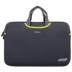 AirCase 13/14 Inch Designer Neoprene Protective Handle Sleeve for Laptops [Slate Gray]