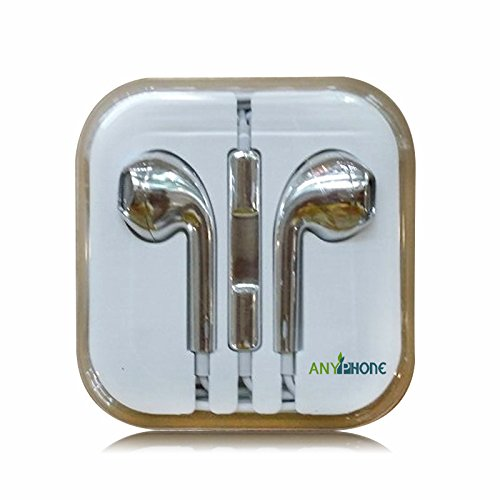 Anyphone Colorful Luxury Headset Headphone Earphone Volume Remote+Mic For Iphone4 5 Ipad3 4 Ipod (3 Metallic Silver)