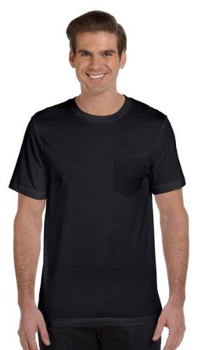 Bella Men'S Short Sleeve Pocket Jersey, Black, Large front-875767