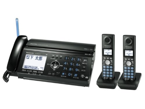 【Amazonの商品情報へ】Panasonic パーソナル普通紙ファクス ブラック 子機2台タイプ (A4送信/A4受信) KX-PW521XW-K
