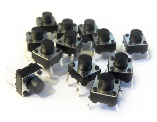 microtivity IM206 6x6x6mm Tact Switch (Pack of 12)