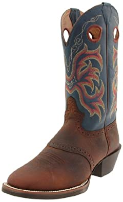 Buy Justin Boots Mens 12 Broad Sqr-Toe Stampede Boot by Justin Boots