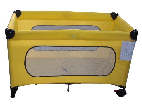 NEW PORTABLE TRAVEL COT BABY CHILD PLAYPEN NEW BORN - 14KG YELLOW