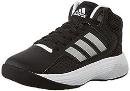 adidas NEO Cloudfoam Ilation Mid K Kids Casual Footwear (Little Kid/Big Kid),Black/Metallic Silver/White,5.5 M US Big Kid