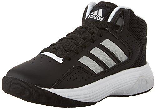 adidas NEO Cloudfoam Ilation Mid K Kids Casual Footwear (Little Kid/Big Kid),Black/Metallic Silver/White,7 M US Big Kid (Adidas Shoes For Big Boys compare prices)