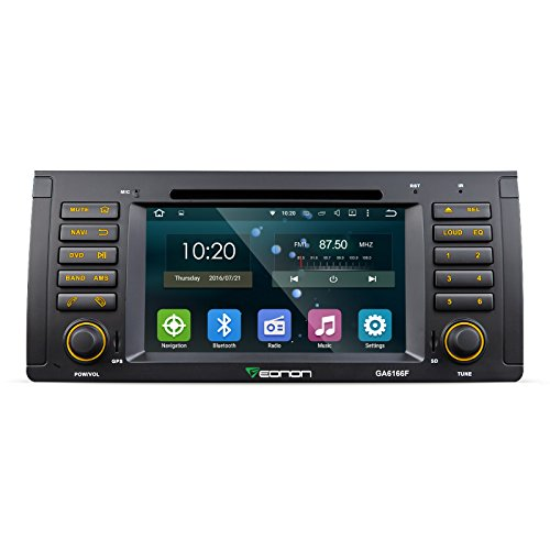 Eonon GA6166F Android 5.1 Car DVD Player Special for BMW E53 X5 2000-2007 Lollipop In Dash GPS Radio Stereo 7 Inch 1 DIN Multimedia Touch Screen Bluetooth 4.0 Steering Wheel Control (Bmw X5 Monitor compare prices)