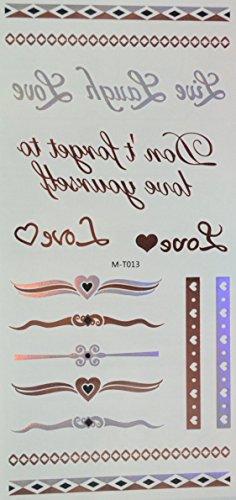 ggsell-rosa-y-plata-y-negro-metalico-tatuajes-temporales-joyas-cadena-love-don-t-forget-to-love-your