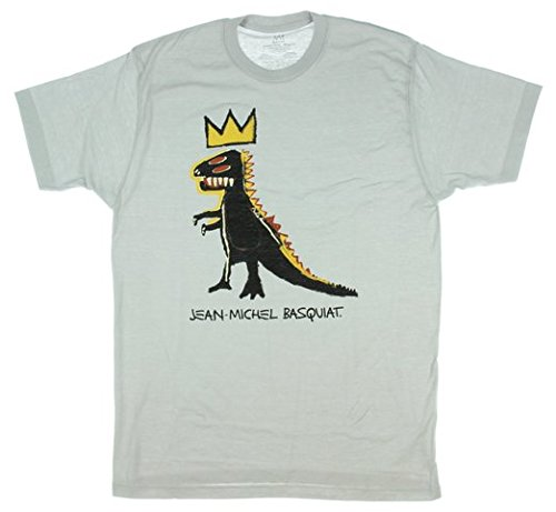 Jean-Michel Basquiat Dinosaur Crown T-shirt - Light Grey ...  Jean-Michel Bas...