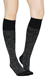 Buttons & Pleats Womens & Mens Medical Grade 20-30 mmHg Compression Socks Paisley ML