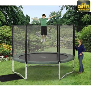 PLUM PLAY 10FT OMEGA 3G GARDEN TRAMPOLINE ENCLOSURE) TRAMPOLINE NOT INCLUDED