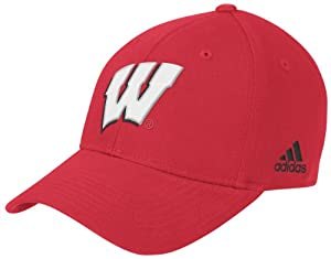 NCAA Wisconsin Badgers Structured Adjustable Hat, One Size Fits All, Red