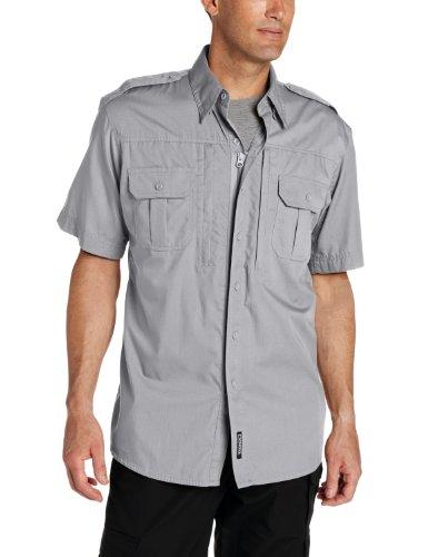 Propper Men's Short Sleeve Tactical Shirt, Grey, Large Regular