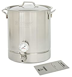 Bayou Classic 16 gallon Brew Kettle Set, 64 quart, Stainless Steel