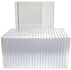 25 Standard PREMIUM Empty Clear Plastic Replacement CD Jewel Boxes (10.4mm Thick CD Cases) (Trays Sold Separately) #CDBS10CLPR