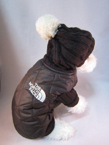 犬服 ドッグウェア 【ダウン ジャケット】 フード付き ブルゾン 冬用 防寒 ペットウェア (Mサイズ)