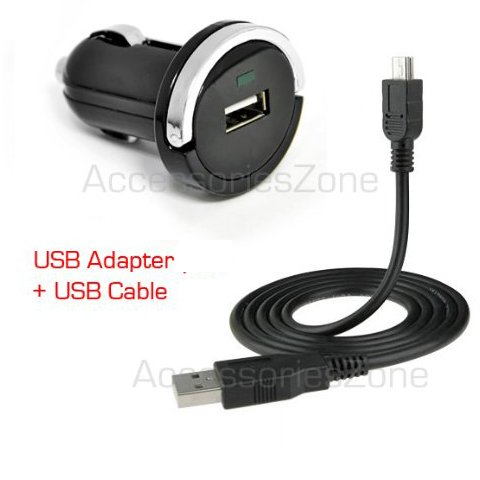 For Lg Tone Hbs-700 / Tone+ Hbs-730 / Tone Pro Hbs-750 / Tone Ultra Hbs-800 Bluetooth Headset Compact Vehicle Power Car Charger Adapter + Usb Data Charging Cable