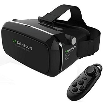 Annbully 3d Virtual Reality Glasses google glass with Head-mounted Headband and Bluetooth Remote Controller for 3.5-6.0 Inch Google Iphone Samsung Note LG HTC ¡