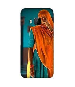 Orange And Blue HTC One M9+ Case