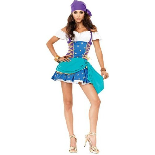 Leg Avenue Womens Gypsy Princess Ladies Fancy Dress Costume Adults Party Outfit 6-8