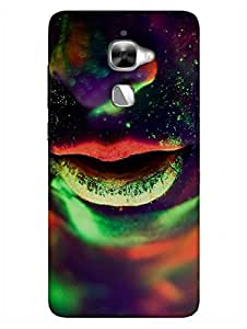 Neon Girl Parties Hard - Hard Back Case Cover for LeEco Le2/ Let V 2 Pro - Superior Matte Finish - HD Printed Cases and Covers