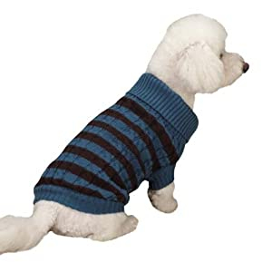 Zack & Zoey Heritage Collection Pet Sweater, X-Small, Blue