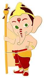 Zeztee Bal Ganesha Shape 16GB Pen Drive ZTRBPD13990_R USB 2.0 (Multicolor)