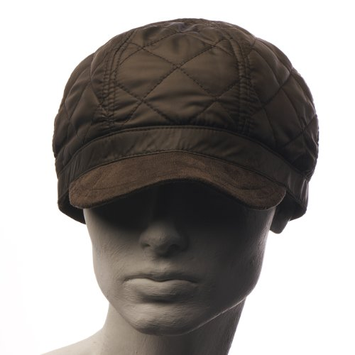 One Size Quilted Hat with Peak