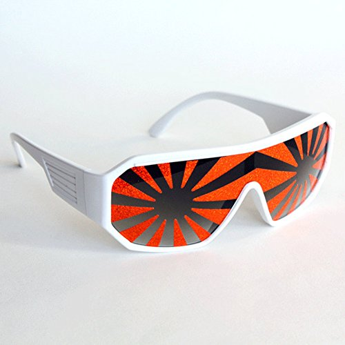 Macho Man White Orange Starburst Sunglasses Randy Savage Costume Wrestler Party