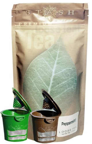 Stash Loose Leaf Peppermint Tea, 5.5-Ounce, 2 Ekobrew's for Keurig Single Serve Brewers(Buy Ekobrew's get 1 Tea Free)