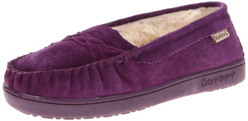 BEARPAW Women's Brigetta Slip-On Loafer,Winterberry,8 M US